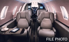 citation excel cabin, private jet