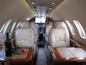 Citation Ultra Cabin Forward view