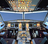 Private Jet Photo Airbus A319 cockpit
