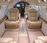 Private Jet Photo Dassault Falcon 200 interior