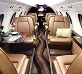 Private Jet Photo Dassault Falcon 20F interior