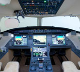 Private Jet Photo Dassault Falcon 7X cockpit