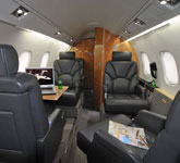 Private Jet Photo Gates Learjet 55 interior